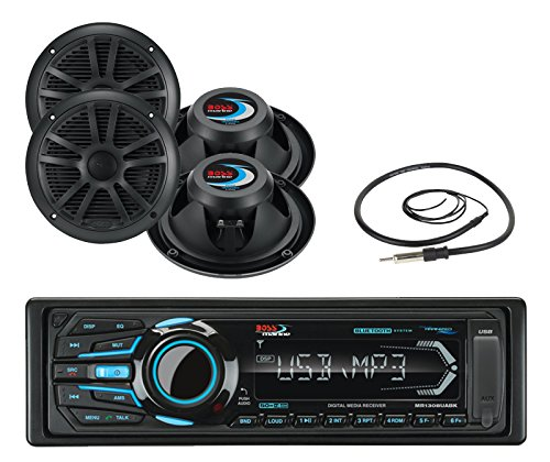Boss Mr1308uabk Single Din Mechless Bluetooth Mp3 Solid